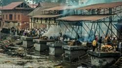 Cremation ghats on the Bagmati River, Kathmandu