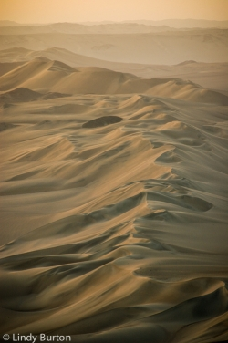 Sand dunes at Huacachina, Peru